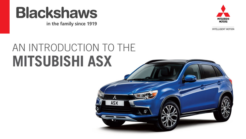 Mitsubishi ASX at Blackshaws