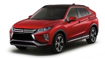 Red Mitsubishi Eclipse Cross Three Quarter Side View