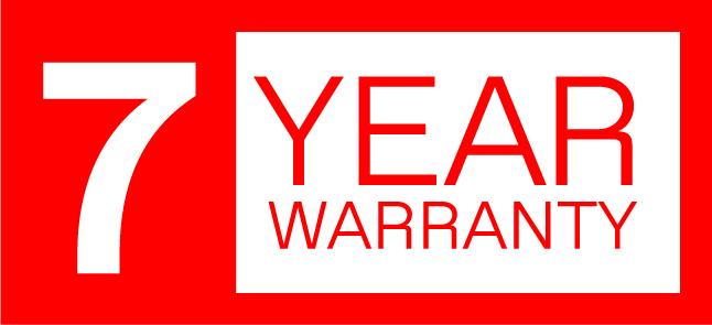 7 year warranty logo